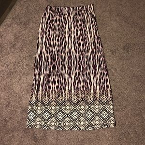 Christopher Banks Pink Leopard Print Maxi Skirt S